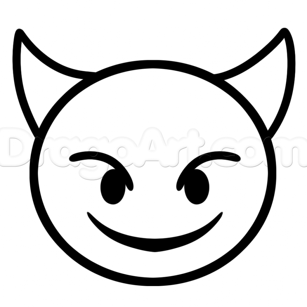 Christmas Emoji Coloring Pages With Faces Devil Artsy Stuff I Like To Draw