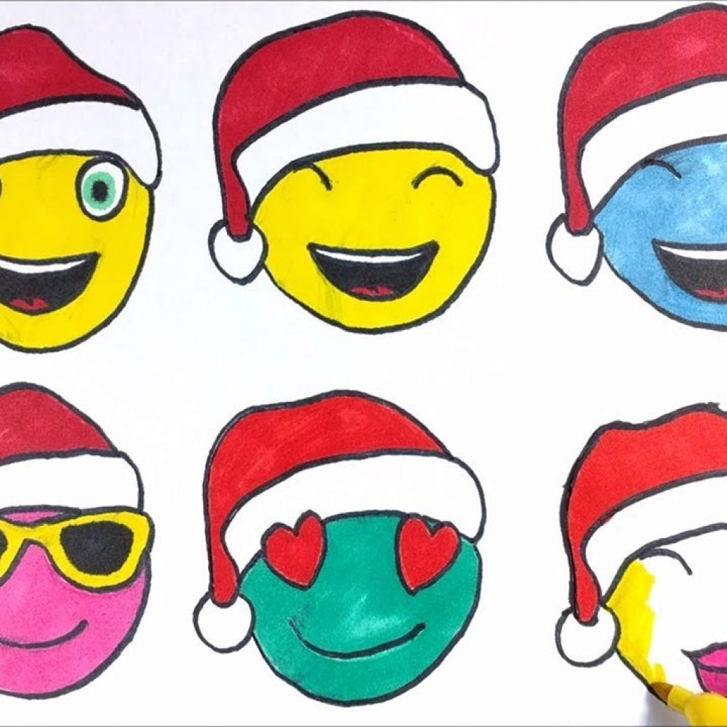 Christmas Emoji Coloring Pages With Printable Collection For Kids 2018