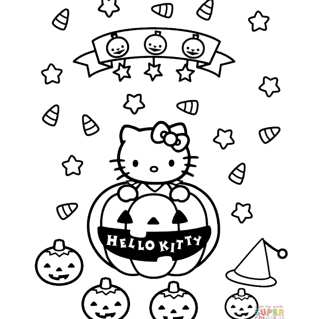 Christmas English Coloring With Free Hello Kitty Page Templates At