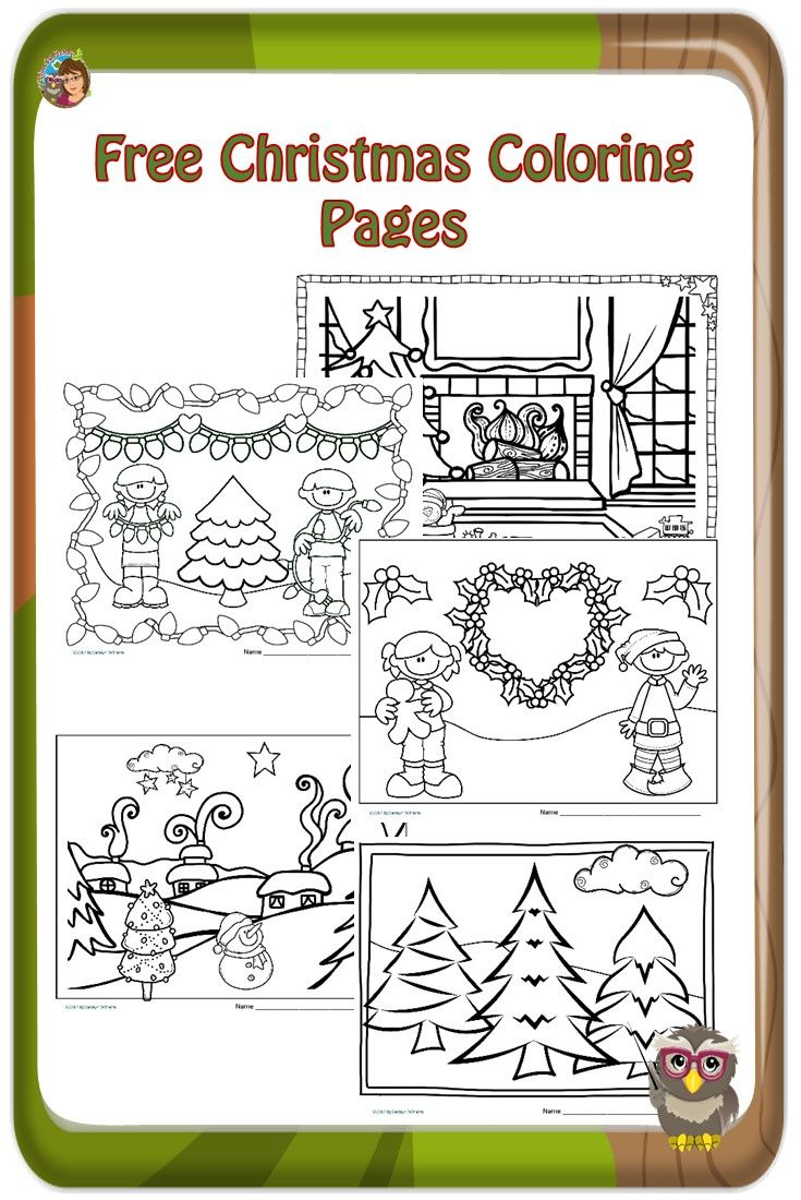 Christmas English Coloring With Pages For Children Free Pinterest