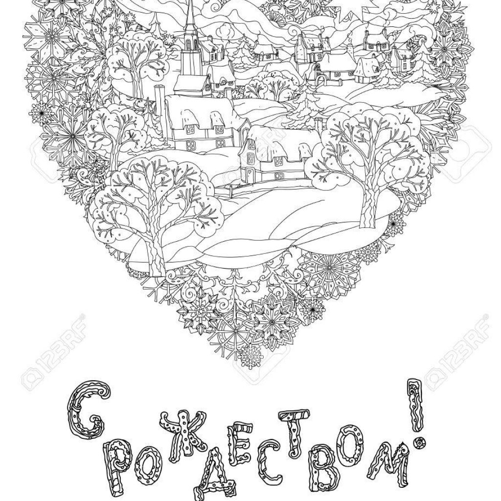 Christmas English Coloring With Russian Orthodox Xmas Cyrillic Text Translation