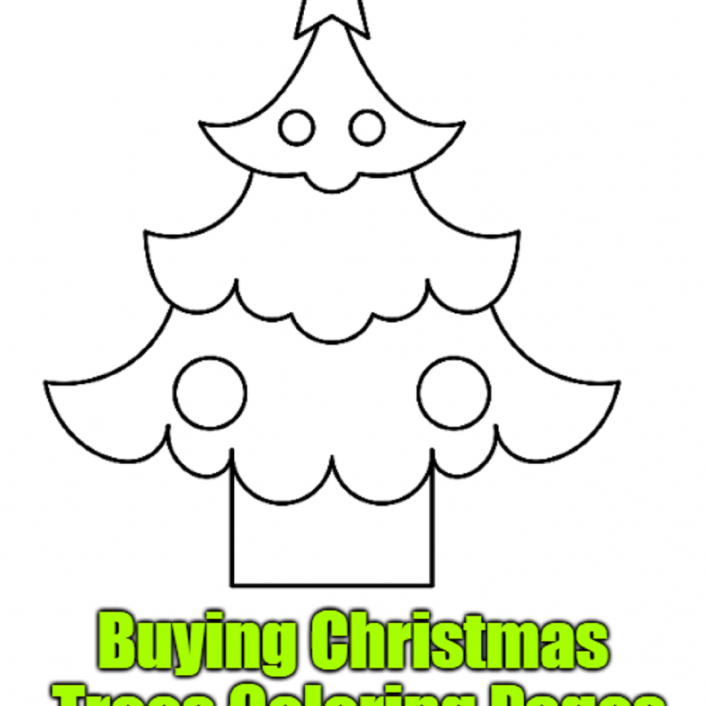 Christmas Eve Coloring Pages With Buying Trees Free