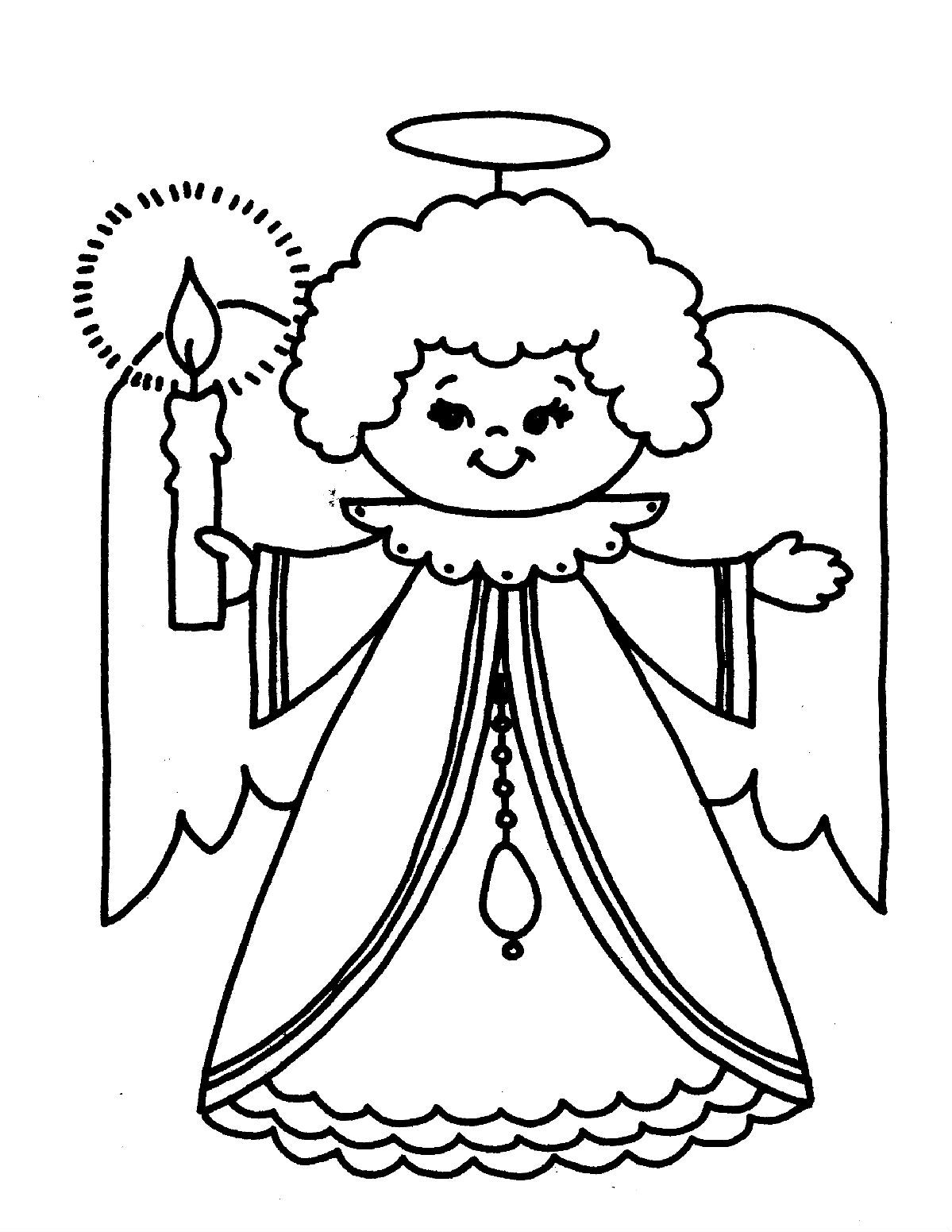 Christmas Eve Coloring Pages With Grandmother Of The Angels Pinterest Kids Net