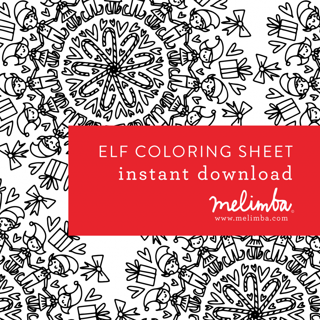 Christmas Eve Coloring Sheets With Free ELF Pages At Www Melimba Com In PRINTABLES Tab