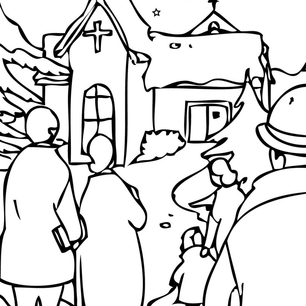 Christmas Eve Coloring Sheets With Pages Learn To