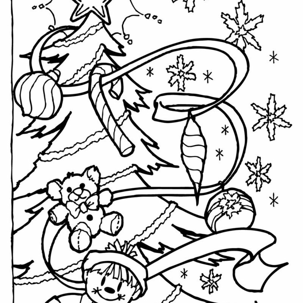 Christmas Eve Coloring Sheets With Present Pages Presents