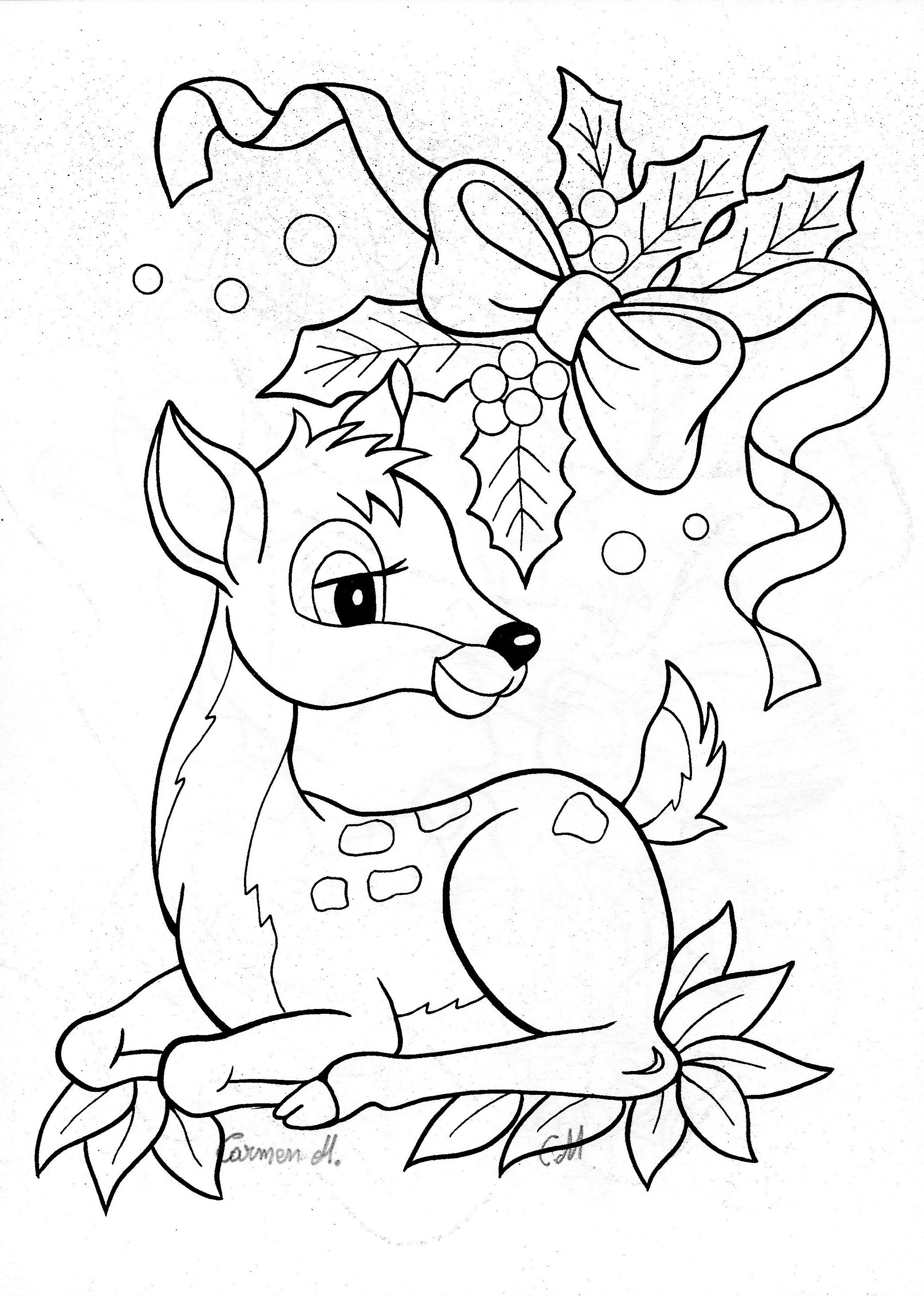 Christmas Fireplace Coloring Page With COLOUR IT SEW TRACE ETC CHRISTMAS BAMBI DEER