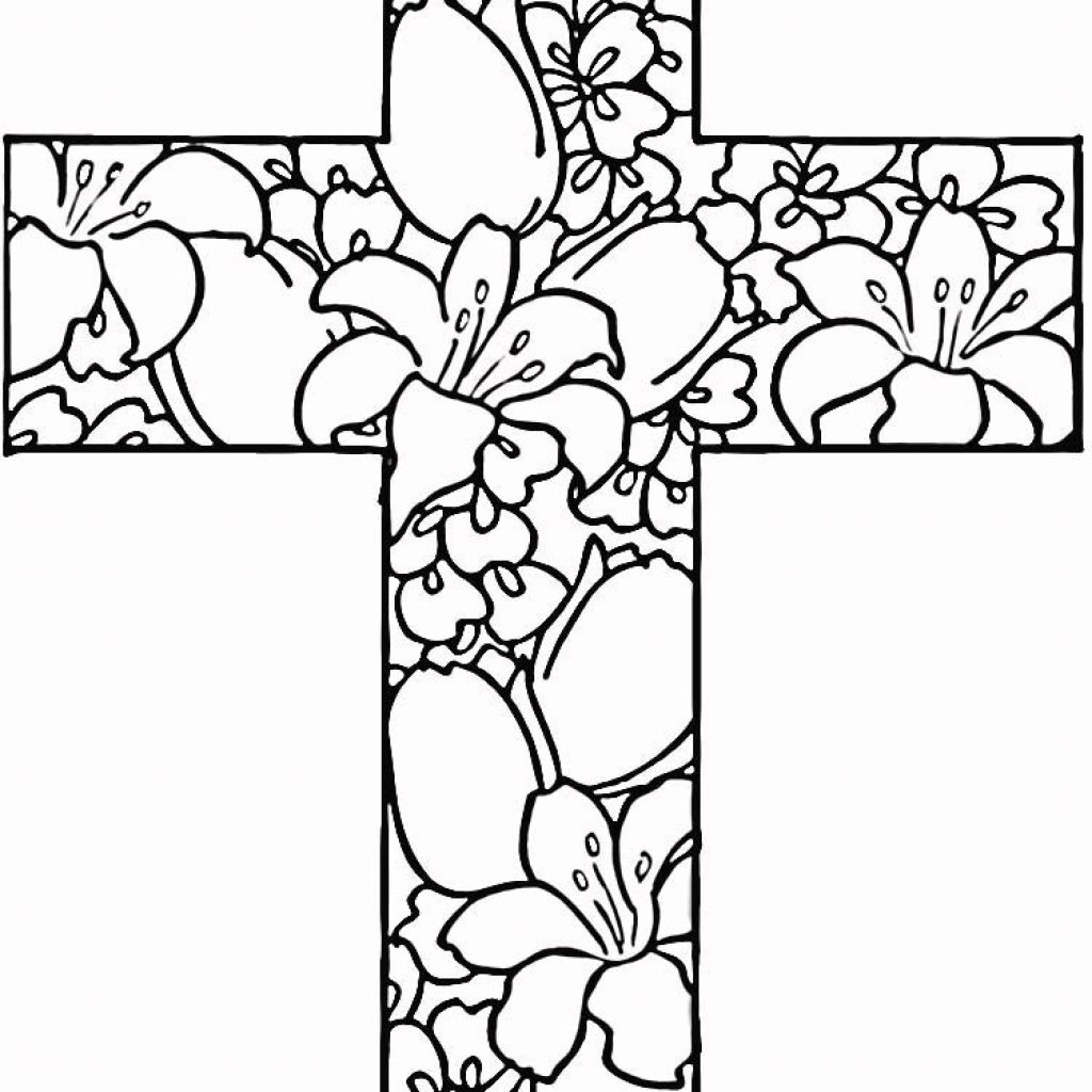 Christmas Flower Coloring Pages With 25 Religious Easter Flowers Free Printable And