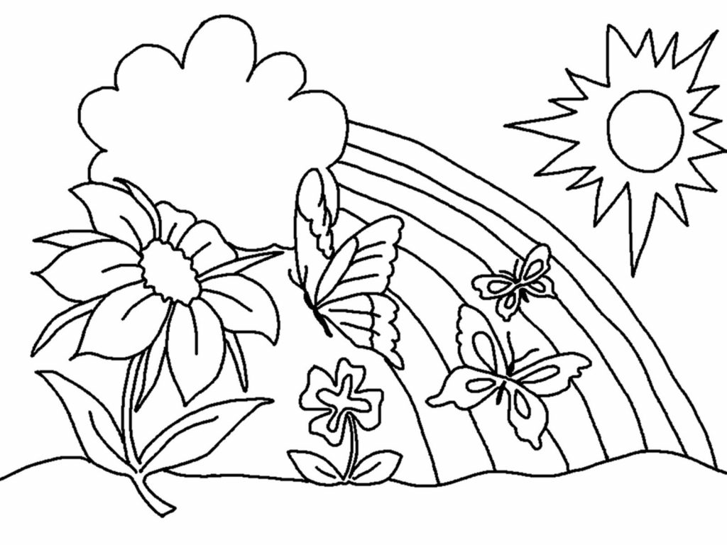 Christmas Flower Coloring Pages With For Spring Flowers 24911 Luxalobeautys Org