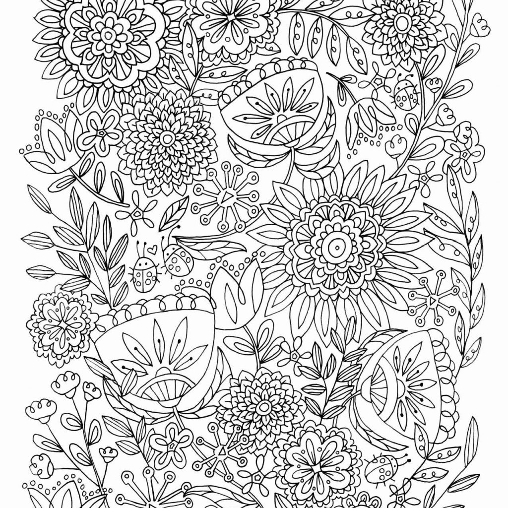 Christmas Flower Coloring Pages With Free Printable And