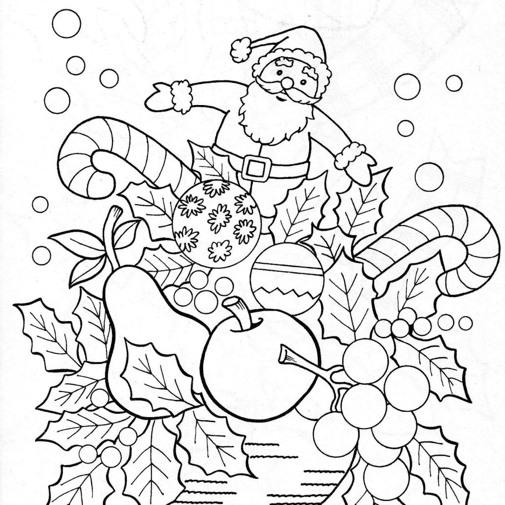 Christmas Garland Coloring Pages With Luxury Good Free Wreaths