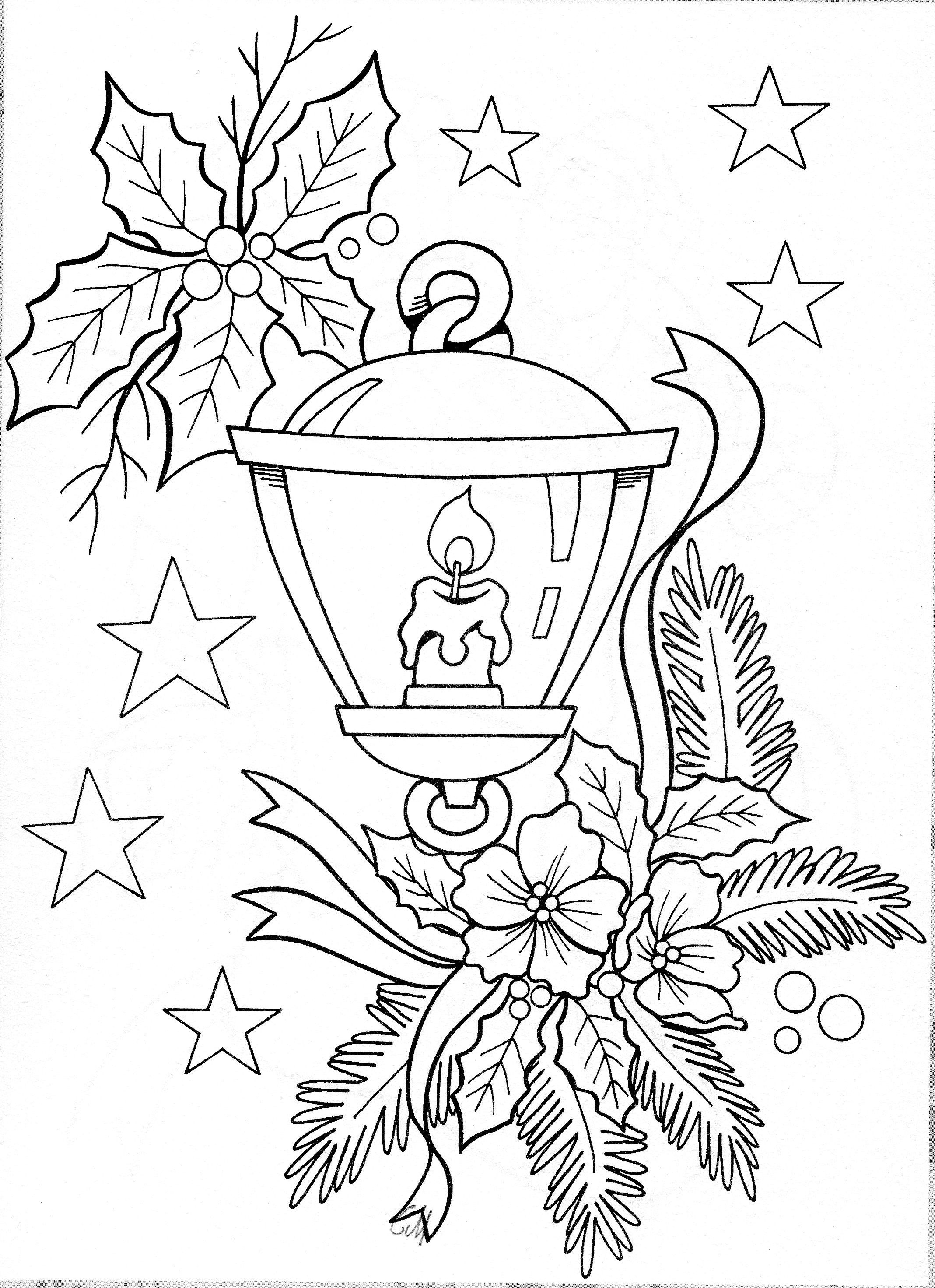 Christmas Garland Coloring Pages With Printables And Embroidery CHRISTMAS COLORING