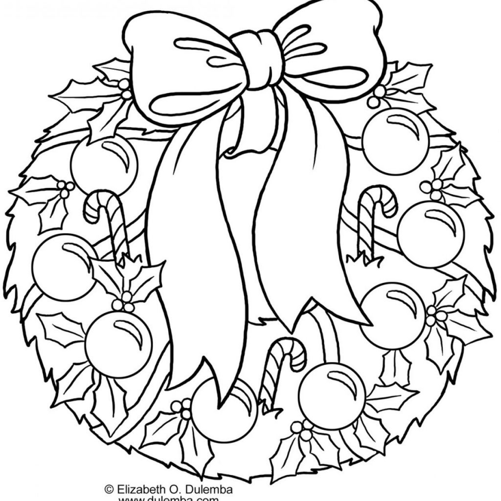 Christmas Garland Coloring Pages With Wreaths Colouring Google Search