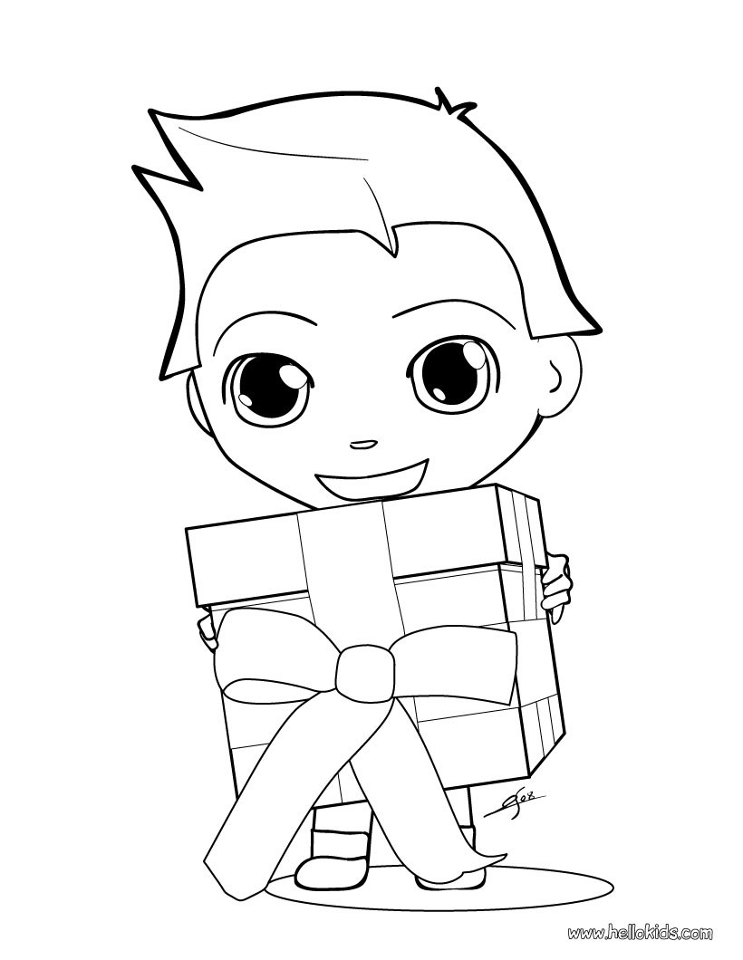 Christmas Gift Coloring Page With CHRISTMAS GIFT Pages 14 Xmas Online Books And