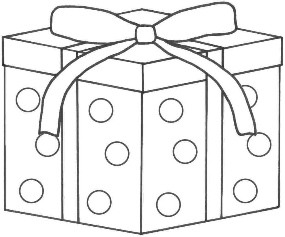 Christmas Gift Coloring Page With Colouring Pages 16 On Presents Exceptional