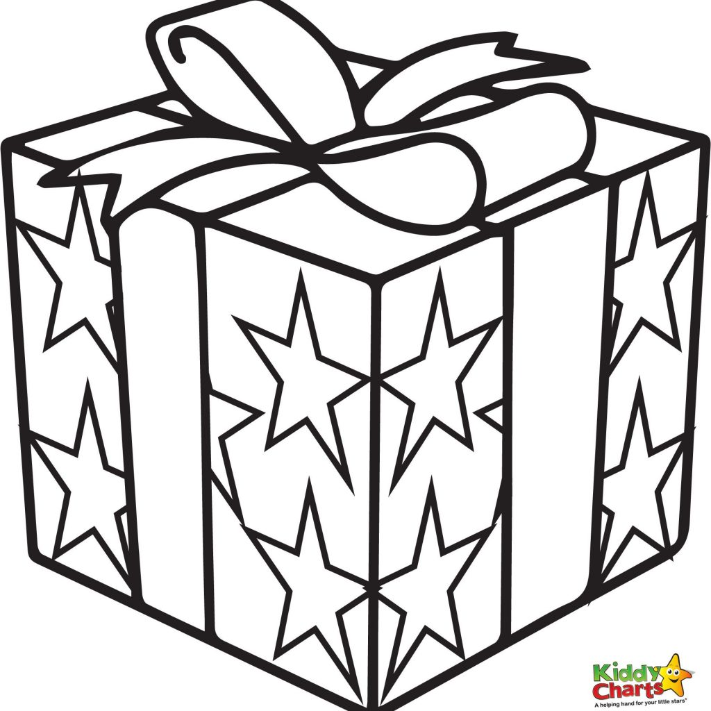 Christmas Gift Coloring Page With Present Pages Holiday Decore Pinterest