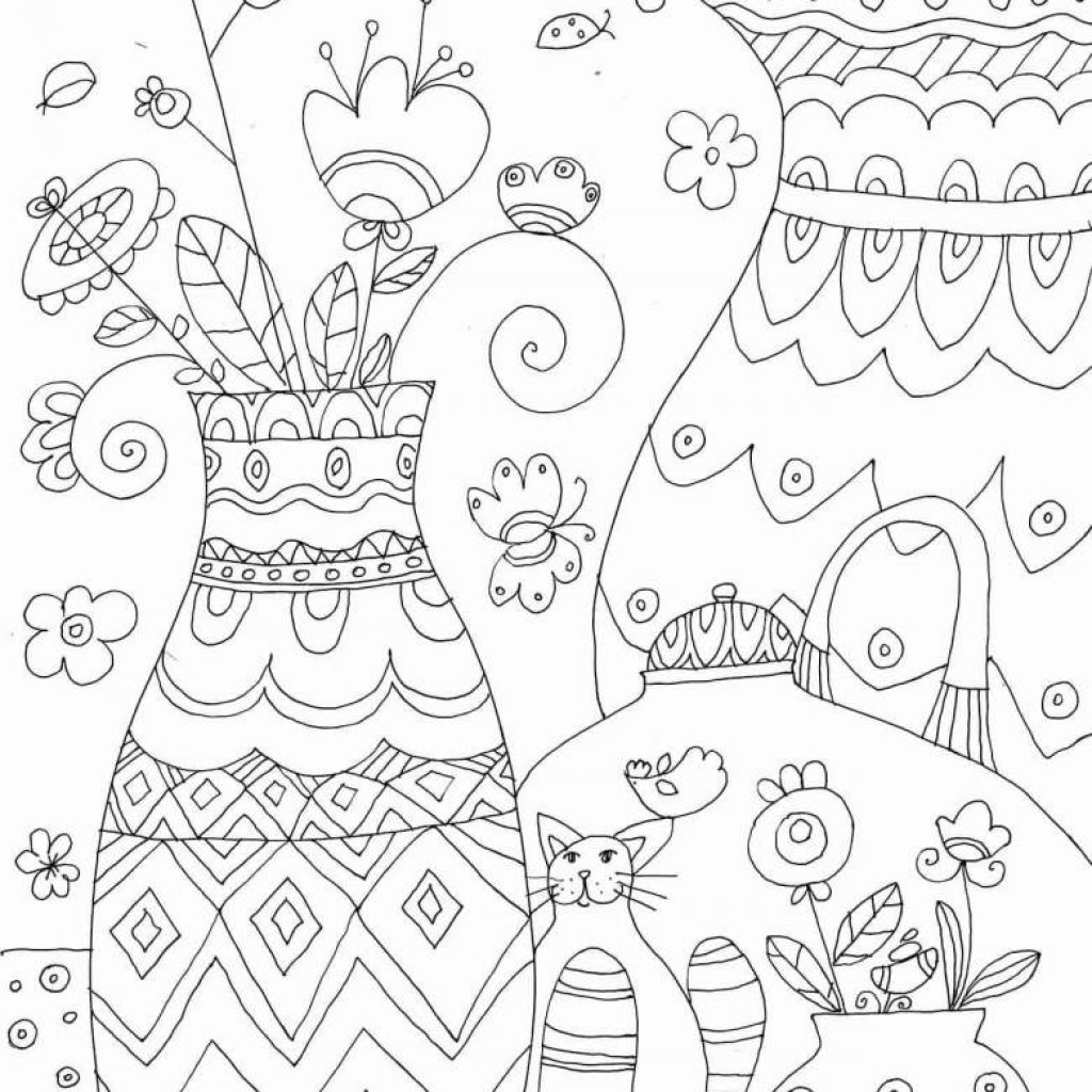 Christmas Gift Coloring With Tree Gifts Page Printable Pages