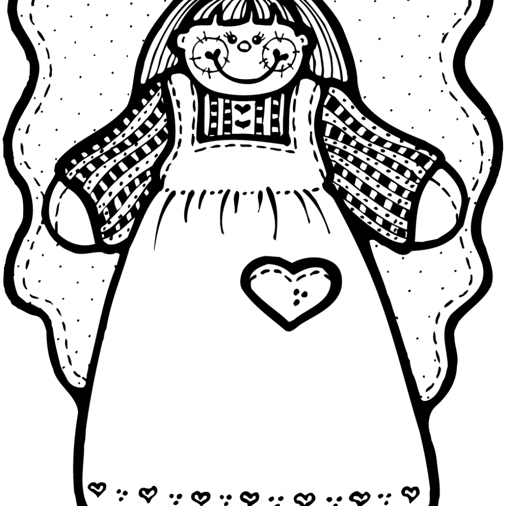 Christmas Girl Coloring Pages With Angel Page Free Printable