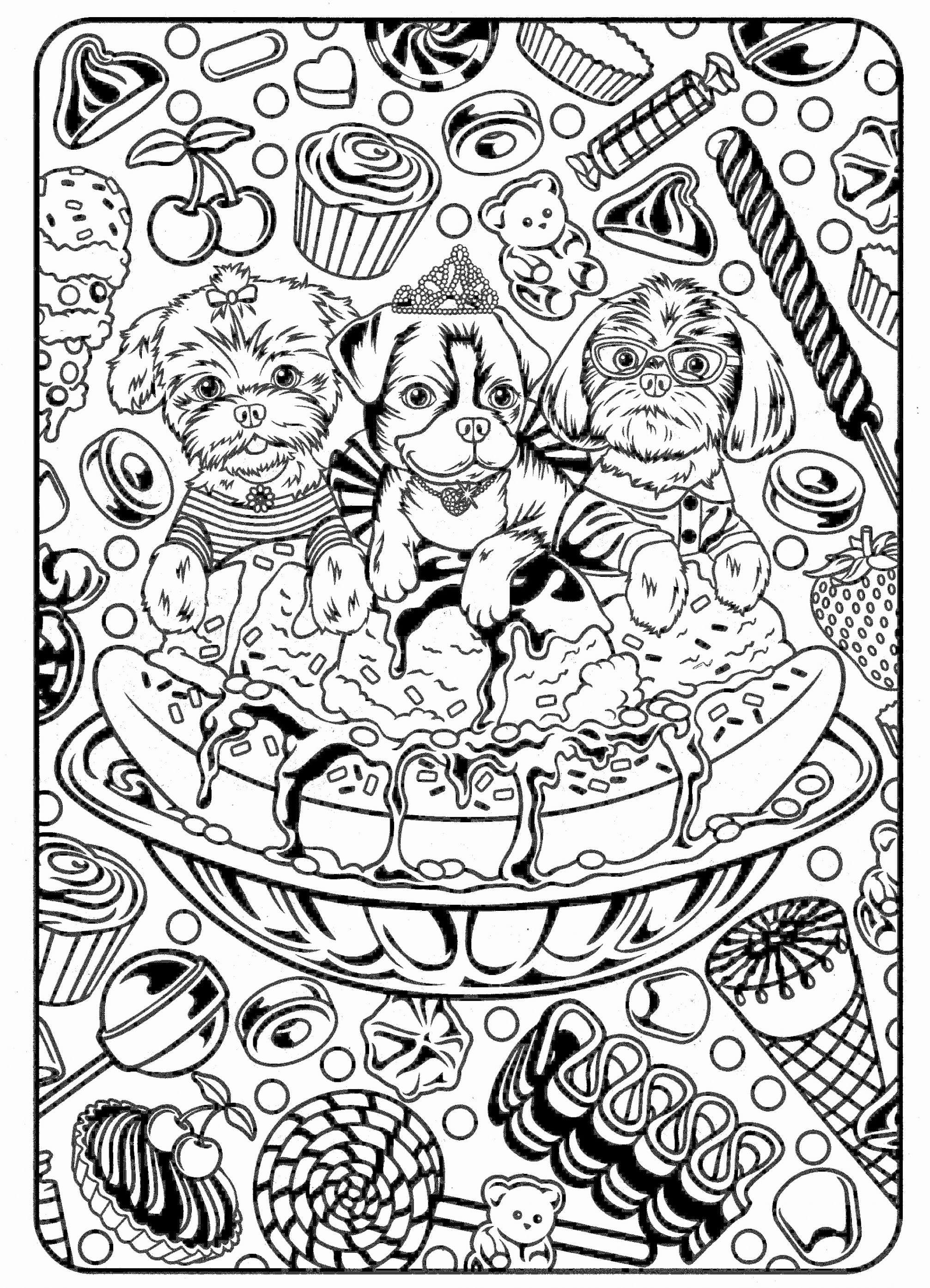 Christmas Girl Coloring Pages With Gingerbread