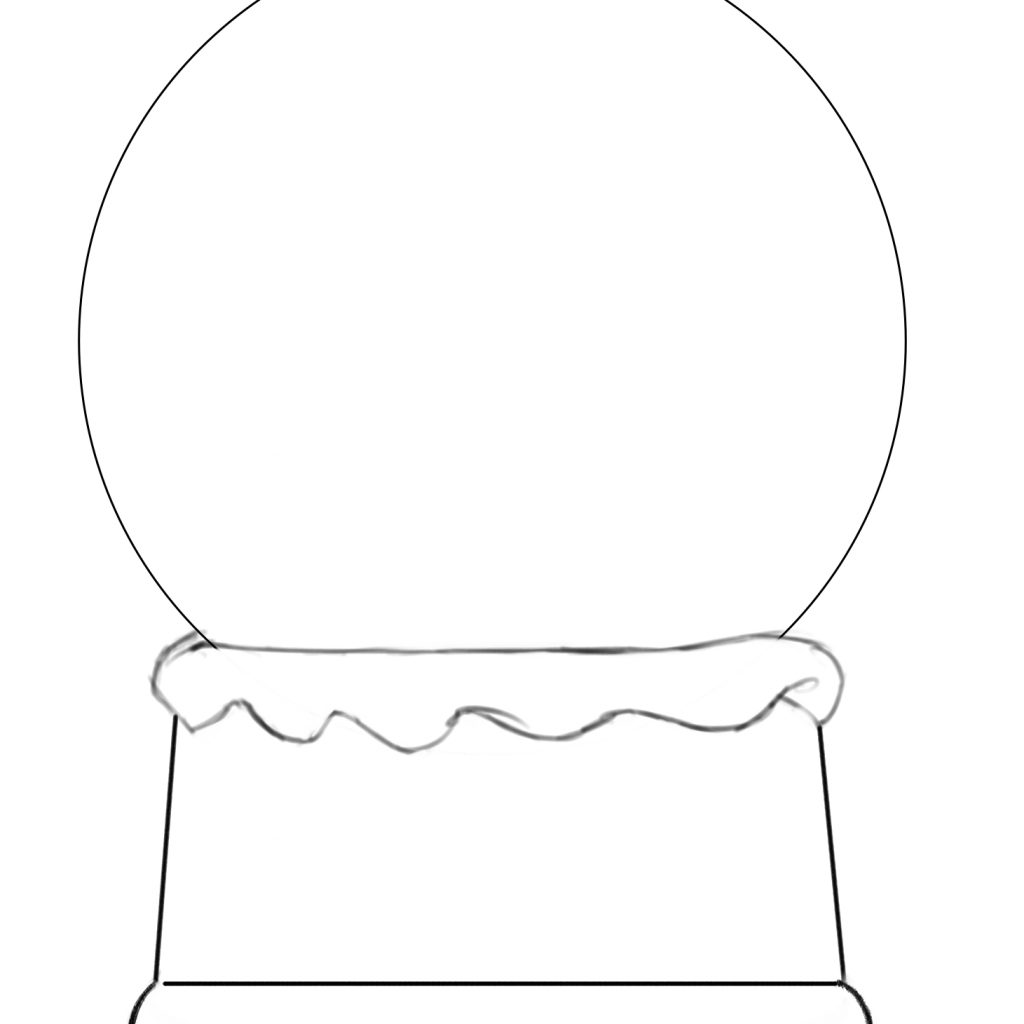 Christmas Globe Coloring Pages With 28 Collection Of Blank Snow High Quality