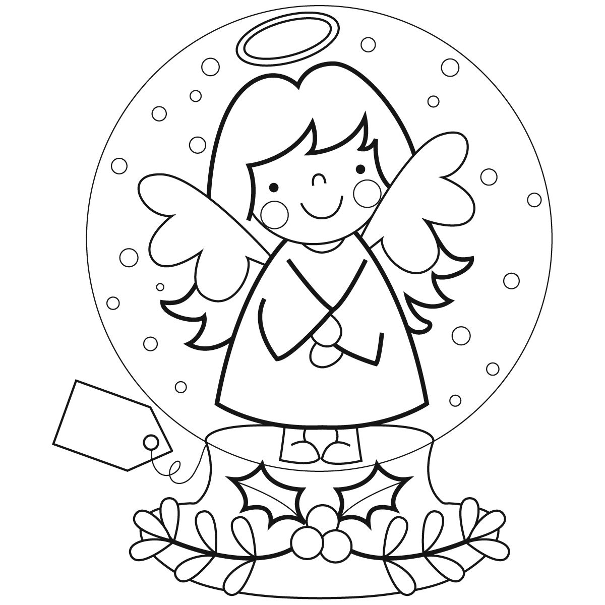 Christmas Globe Coloring Pages With Marisa Straccia Snow Designs Tags Pinterest