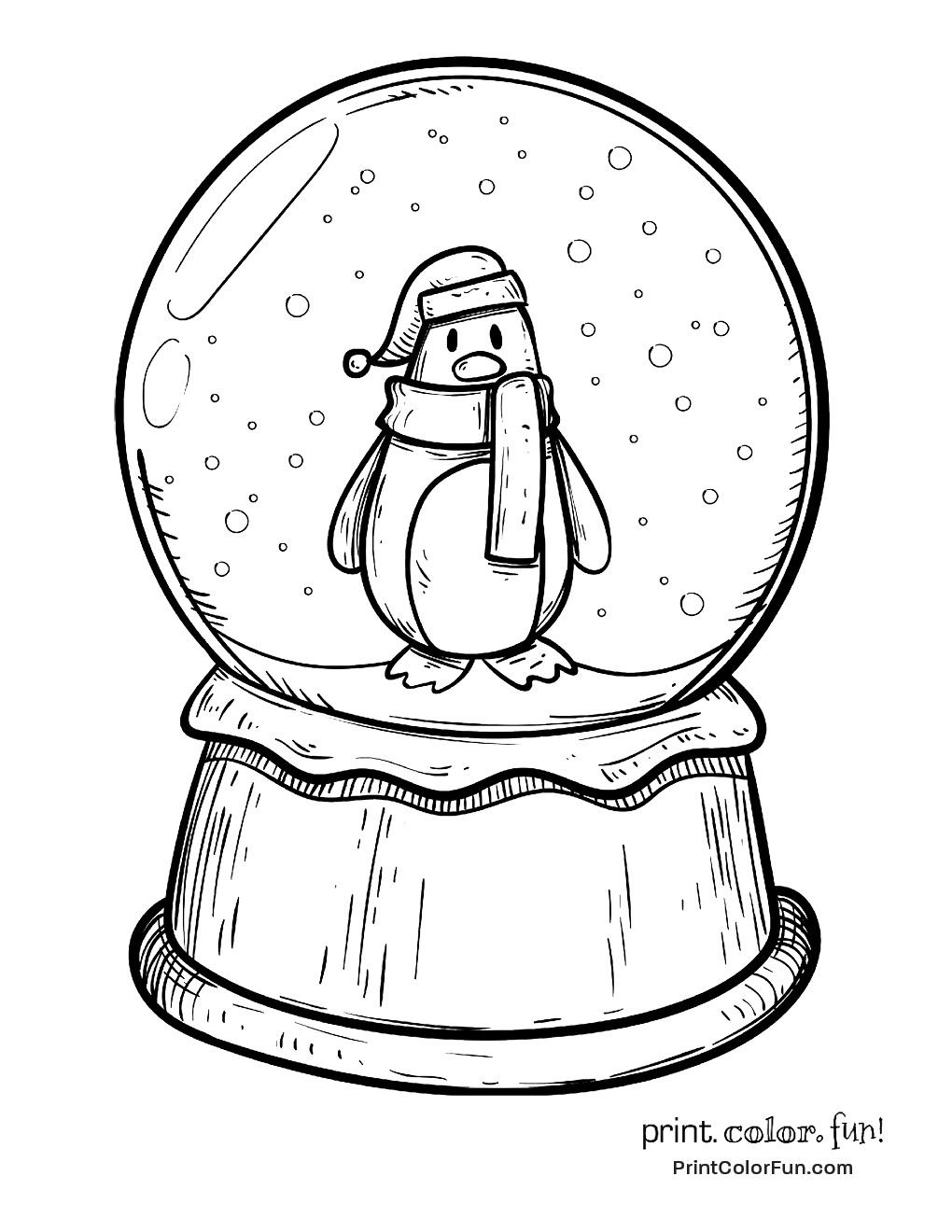 Christmas Globe Coloring Pages With New Snow Page Design Printable Sheet