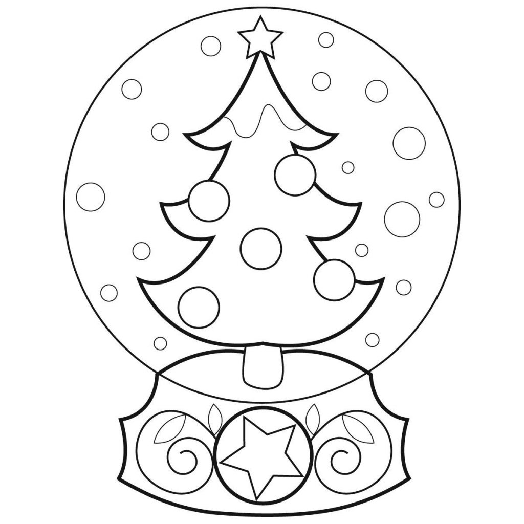 Christmas Globe Coloring Pages With School Page Classes For Kids Animage Me