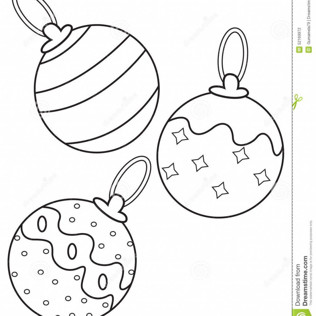 Christmas Gnome Coloring Page With Balls Stock Illustration Of