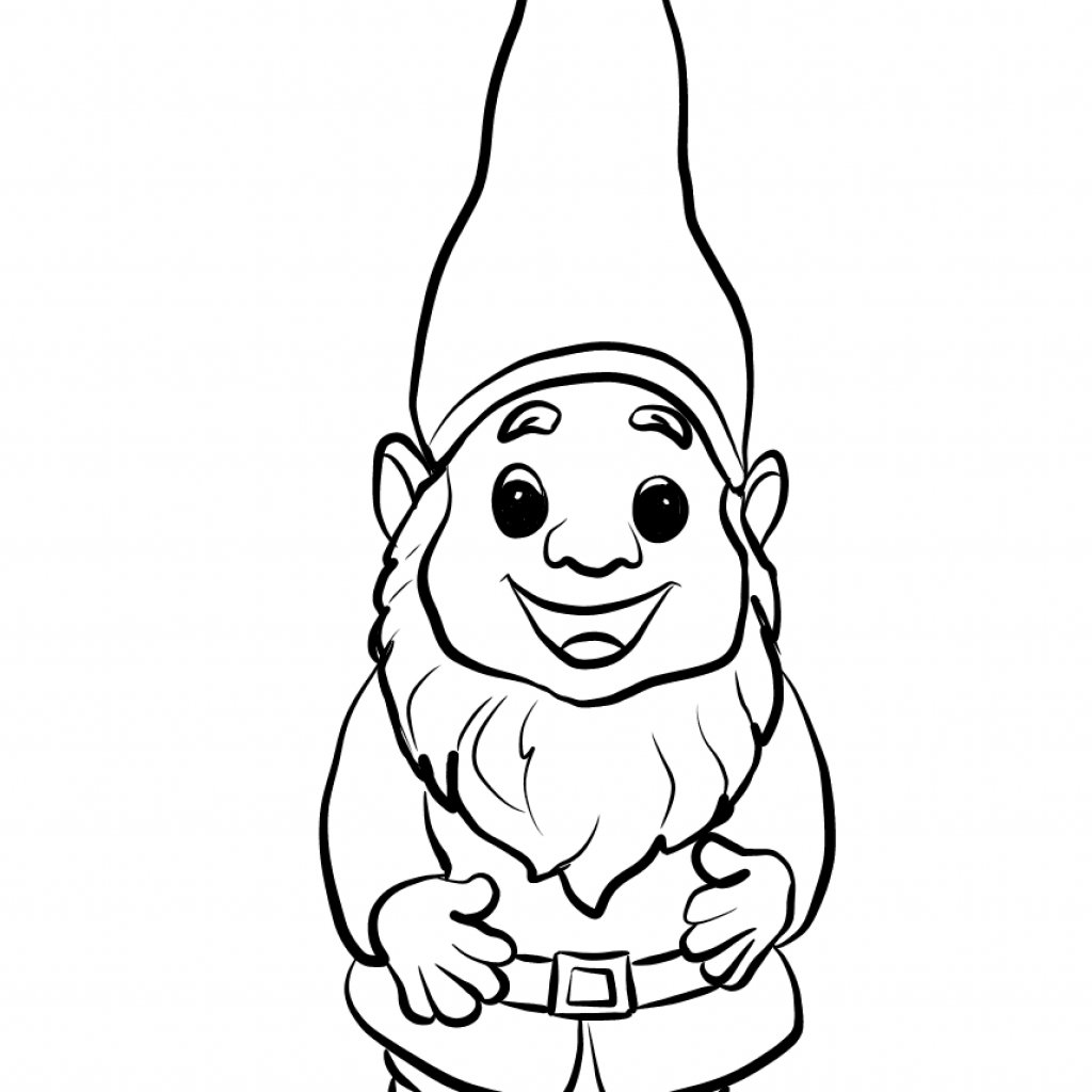 Christmas Gnome Coloring Page With Cute Free Printable Pages