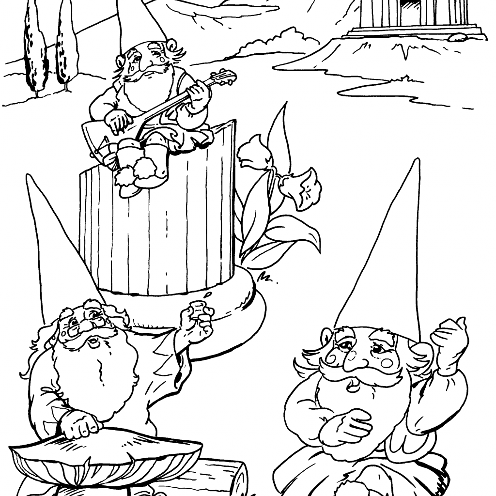 Christmas Gnome Coloring Page With Kleurplaat Kabouter 2018 Pinterest Gnomes
