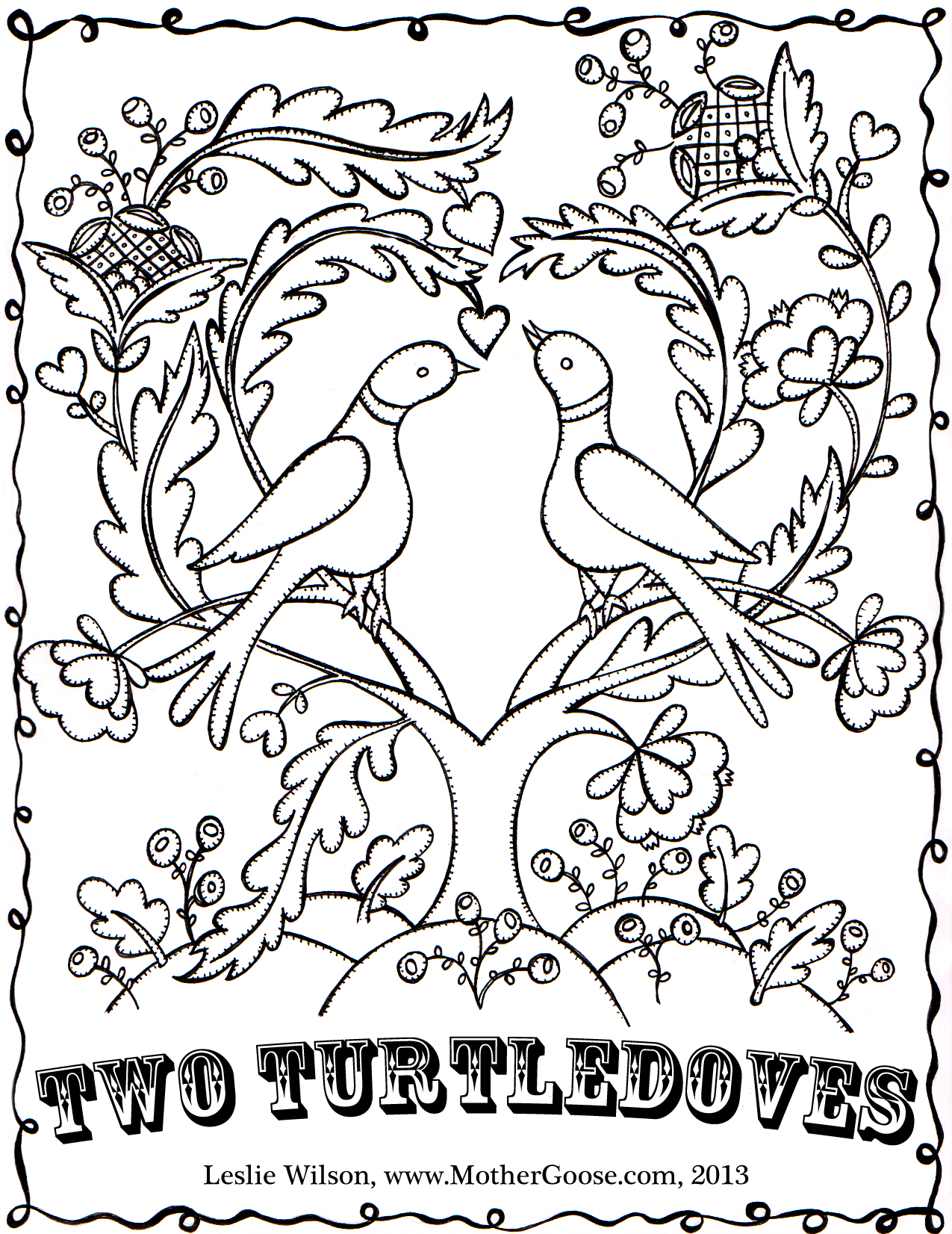 Christmas Gnome Coloring Page With Twelve Days Of Pages