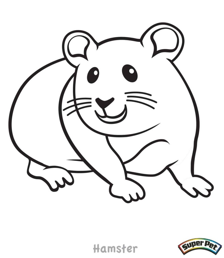Christmas Hamster Coloring Pages With Cartoon Inspirationa Hamsters