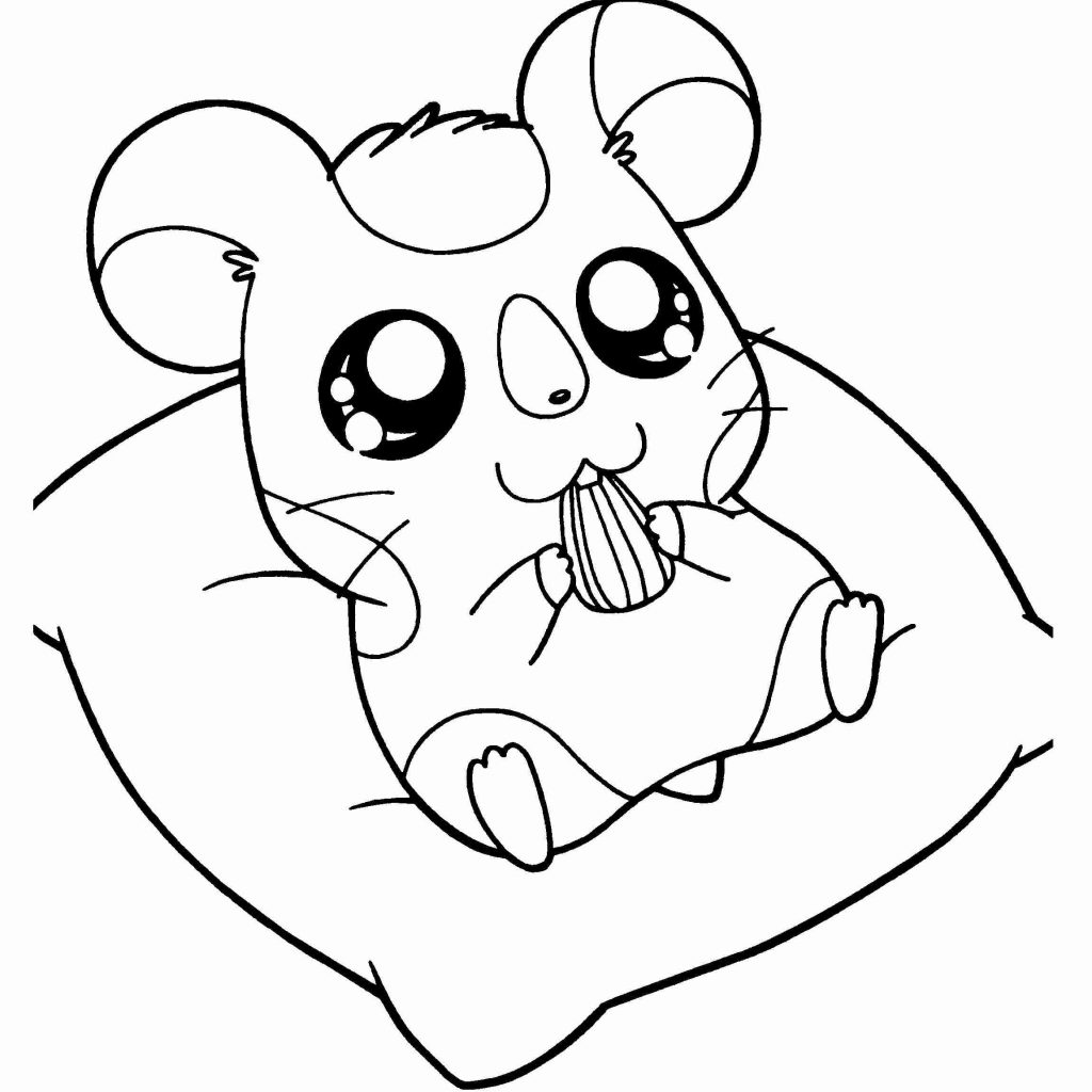 Christmas Hamster Coloring Pages With Cartoon New Page