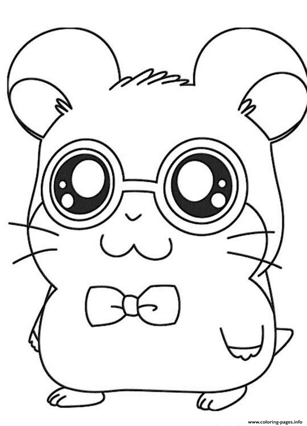Christmas Hamster Coloring Pages With Cute Dexter Hamtaro S3b70 Printable