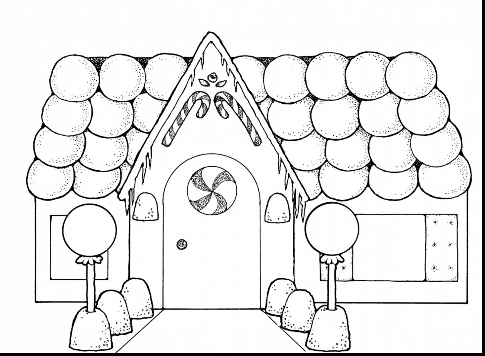 Christmas Hamster Coloring Pages With Gingerbread House Collection Play Learn