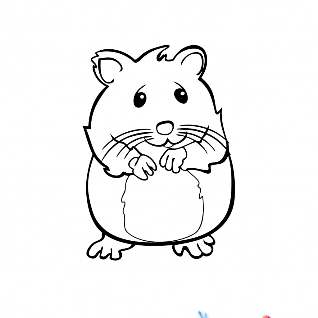 Christmas Hamster Coloring Pages With Page OSOB Pinterest