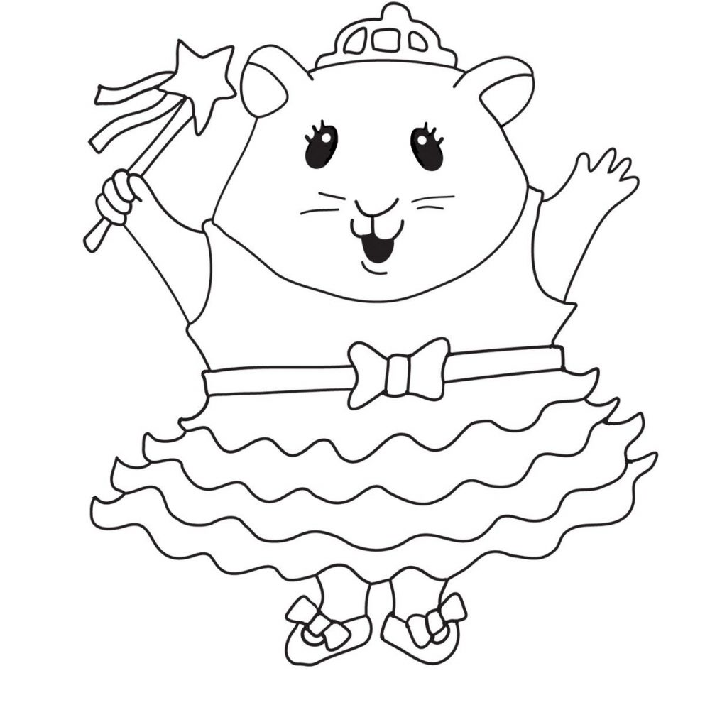 Christmas Hamster Coloring Pages With Pet Shop Printable Littlest