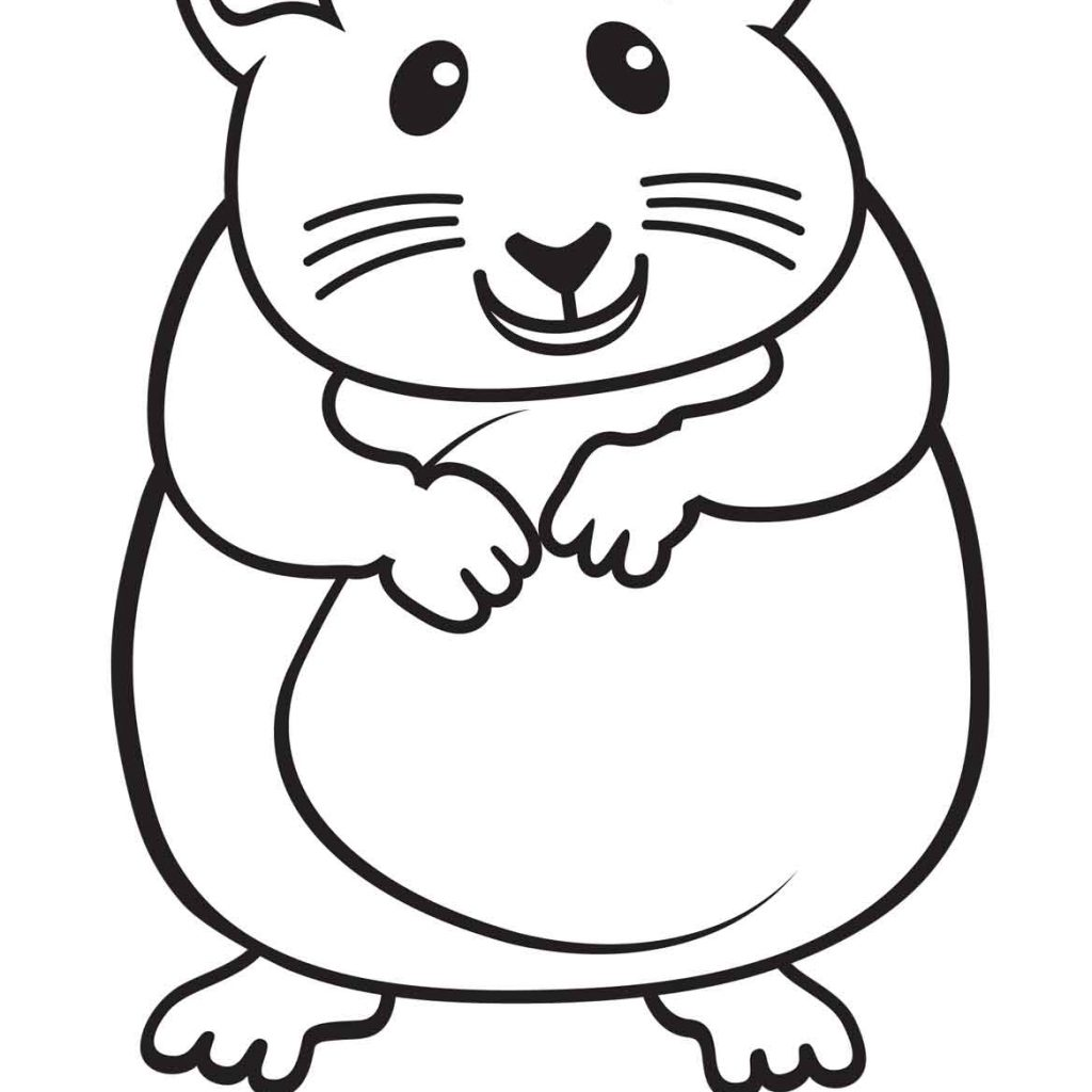 Christmas Hamster Coloring Pages With Runninggames Me Printable At