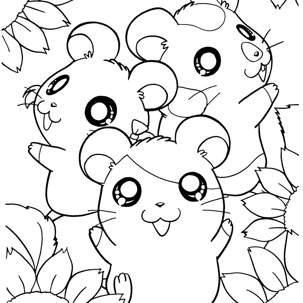 Christmas Hamster Coloring Pages With Tree Theme Colored Lights Archives Codraw Co Best