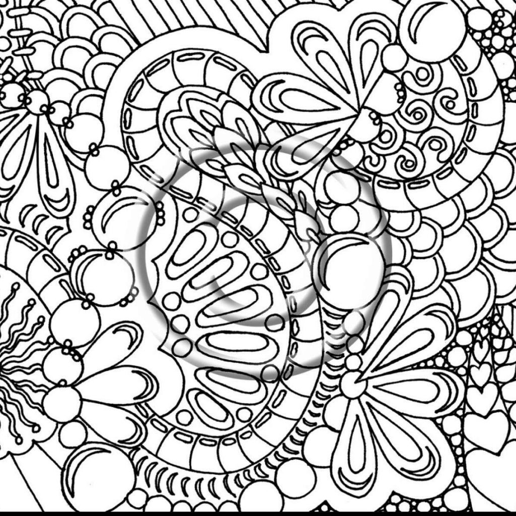 Christmas Hard Coloring Pages With Free Printable For Adults 7SL6