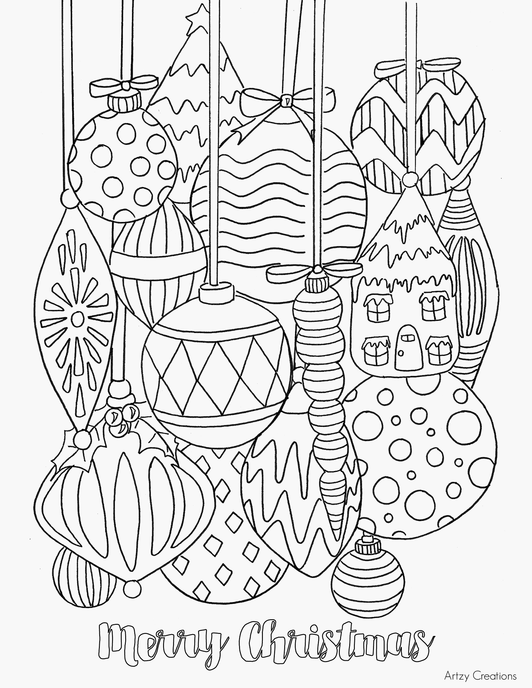 Christmas Heart Coloring Page With 70 Winter Adult Pages Coloringpagess Bid
