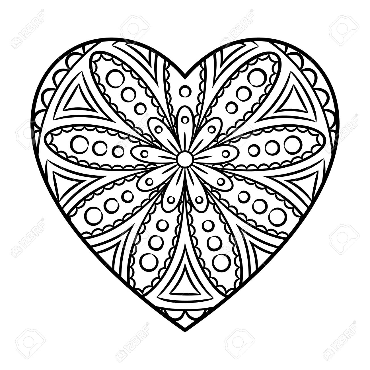 Christmas Heart Coloring Page With Free Shape Pages Awesome For