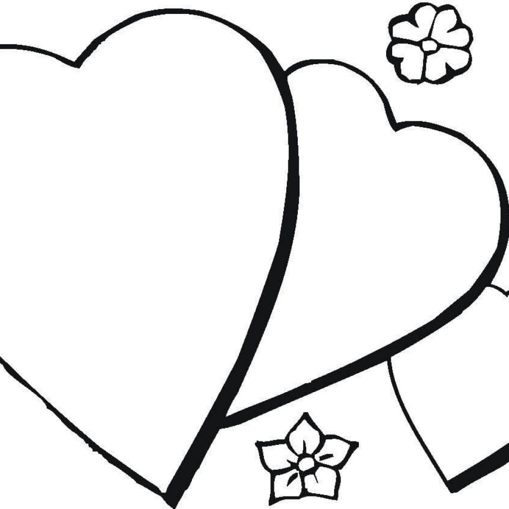 Christmas Heart Coloring Page With Romantic Free Printable Pages