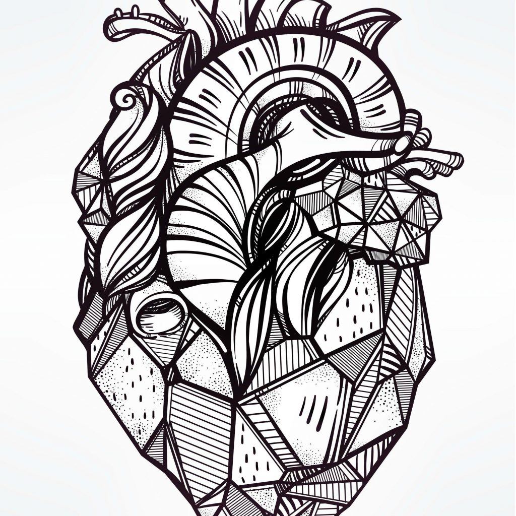Christmas Heart Coloring Page With Valentine Day The Nightmare Before