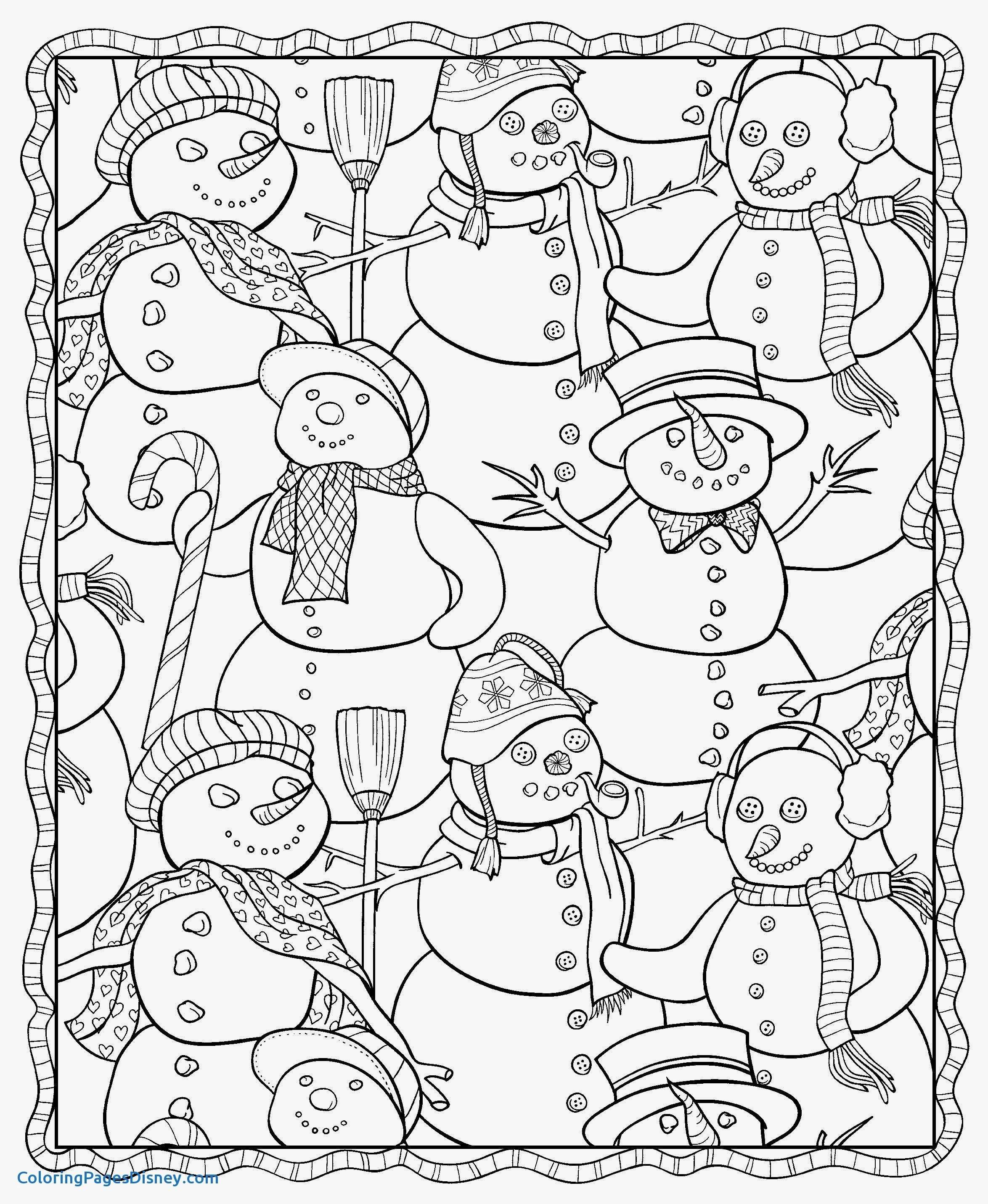 Christmas Holly Coloring Pages With Disney