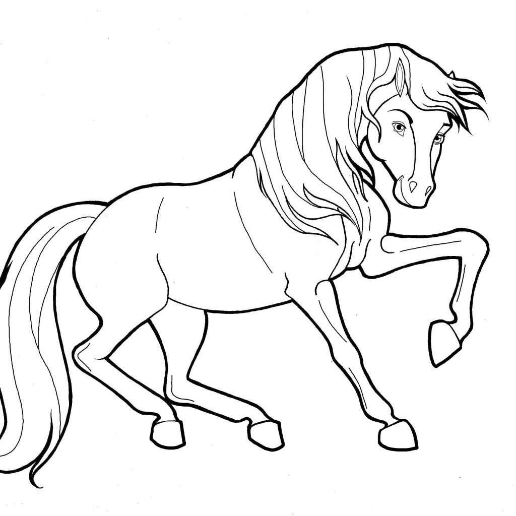 Christmas Horse Coloring Pages With Fresh Codraw Co