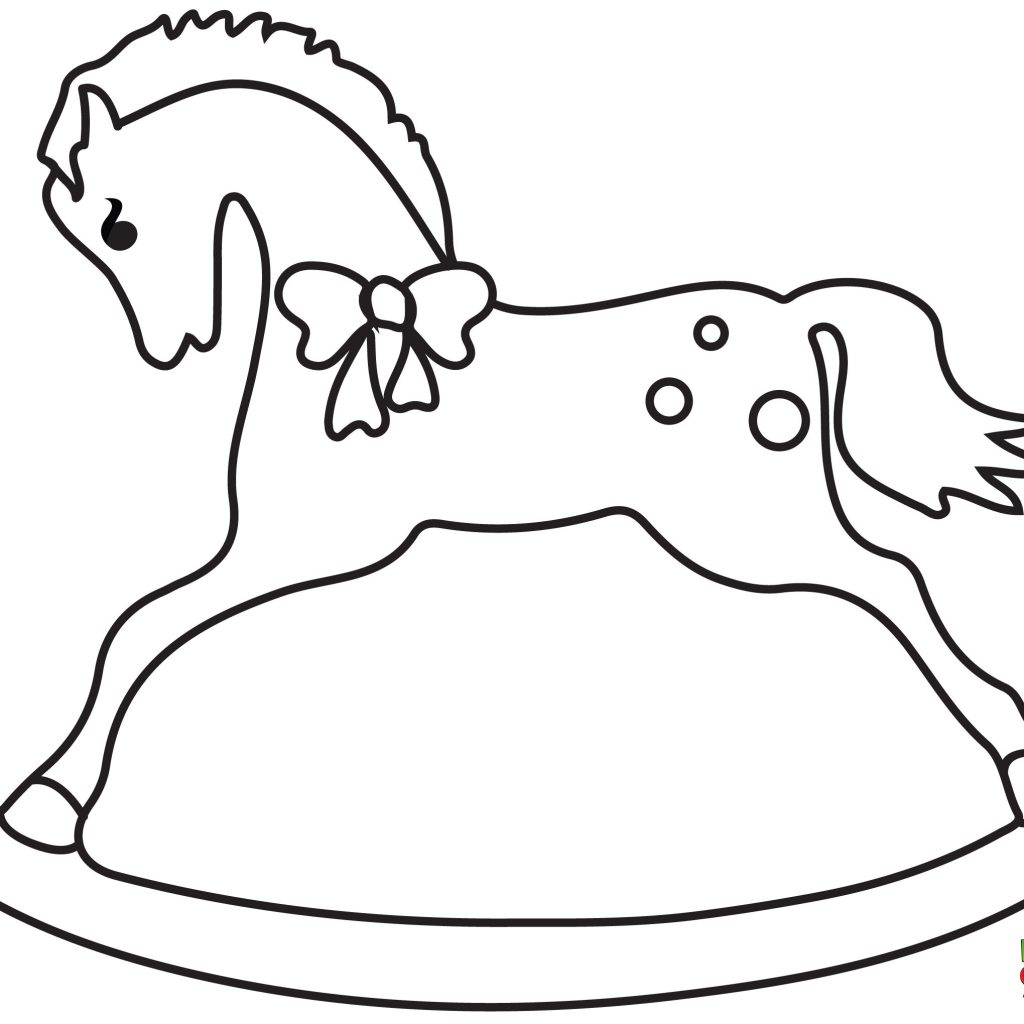 Christmas Horse Coloring Pages With Rocking Horses