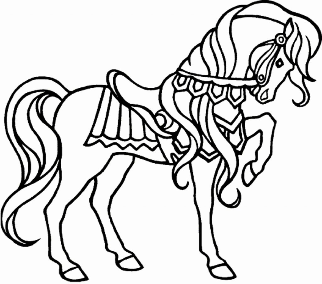 Christmas Horse Coloring Pages With Save 2