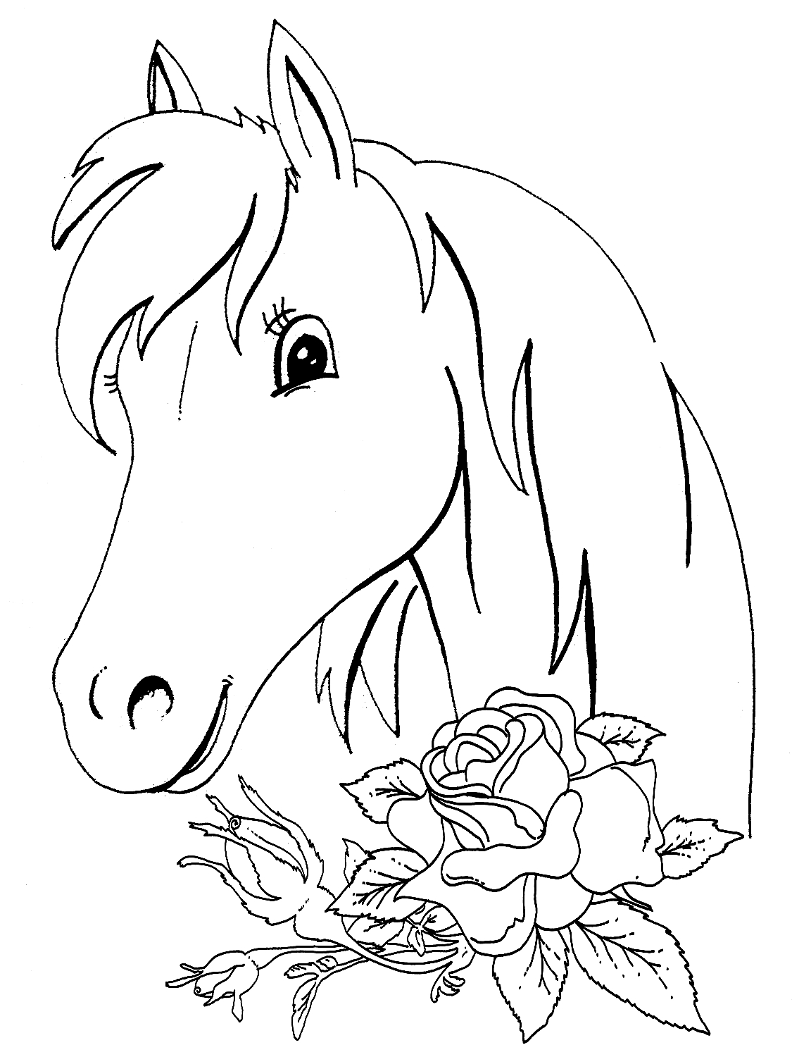 Christmas Horse Coloring Pictures With Pages Free For Kids 2018