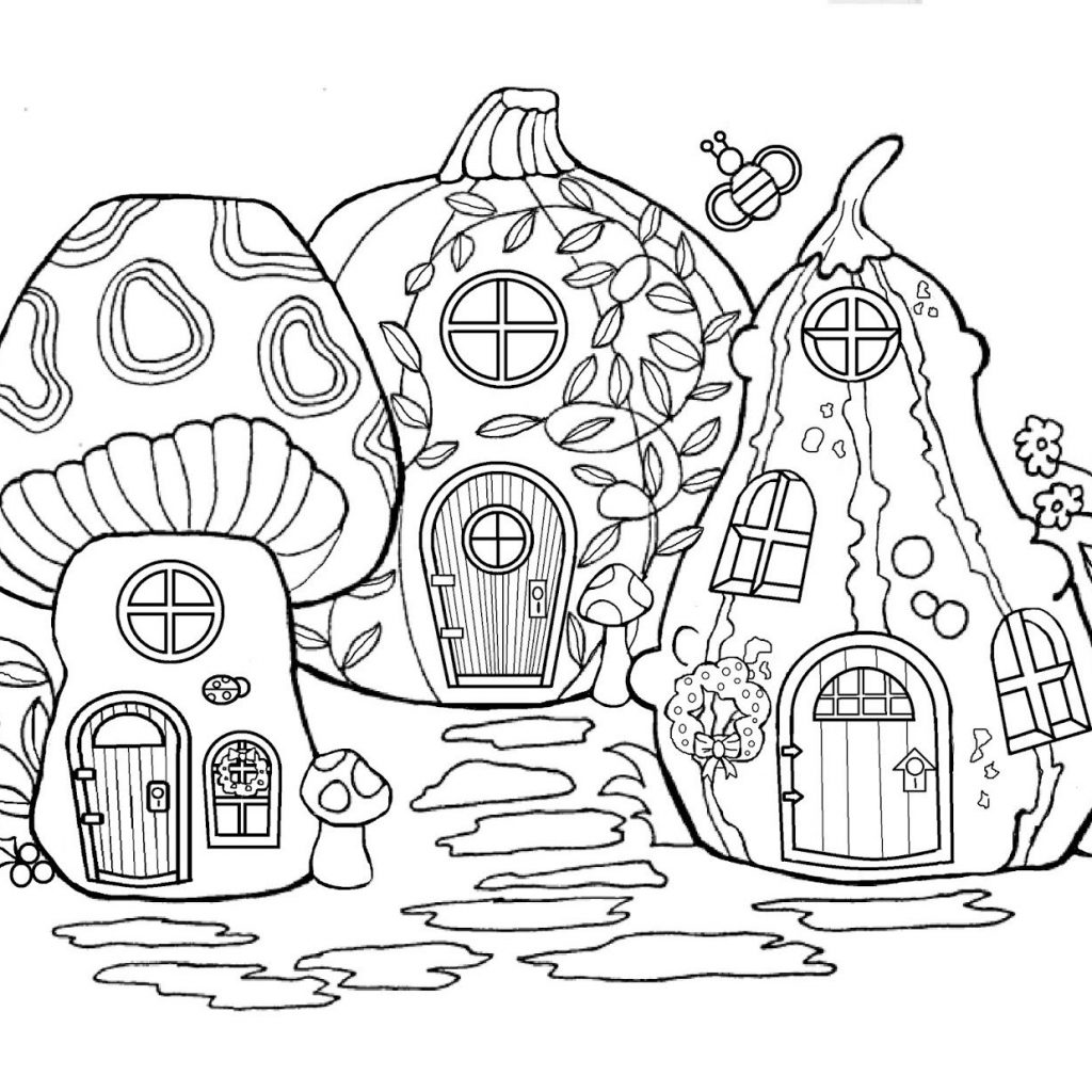 christmas-house-coloring-pages-with-fairy-merry-day13-pinterest